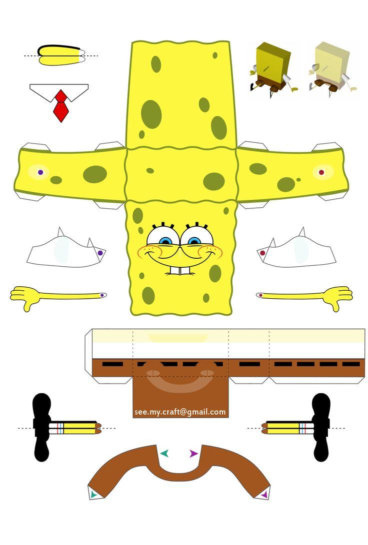 Spongebob Papercraft - Instructions by ~kamibox on deviantART