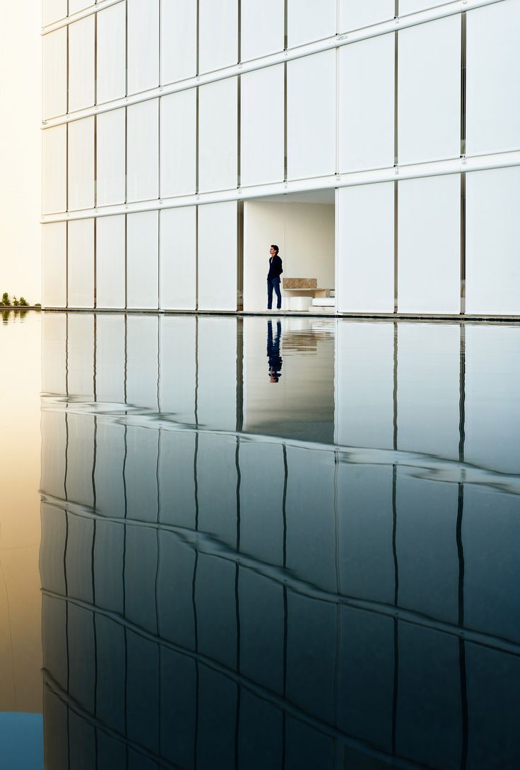 Shallow pools mirror sugar-cube suites at Hotel Mar Adentro