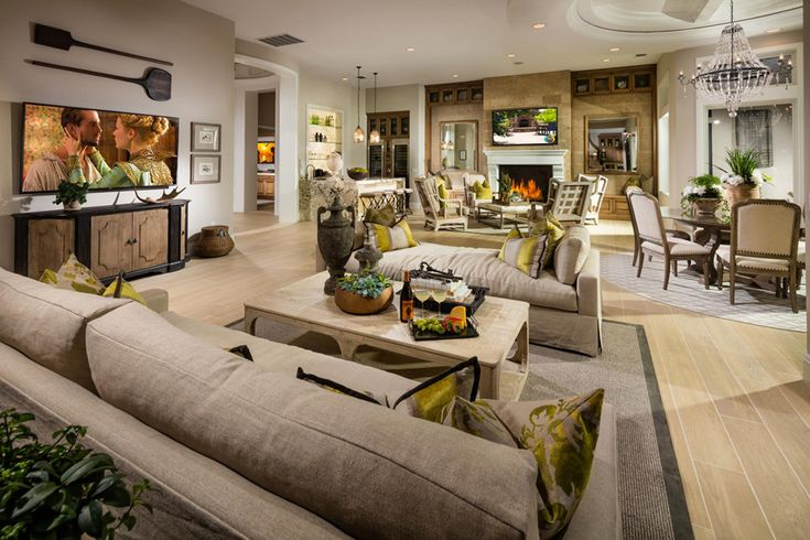 Enjoy entertaining in your comfortable, inviting living room in the Monterey home design.