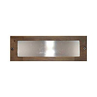 Universal Lighting Large Bronze Brass Frosted Step Light Cover $23 For Use  With Universal Large Box