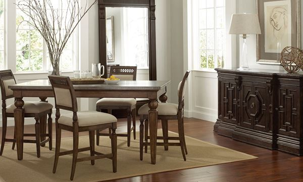This fabulous Counter Height Dining Set is handcrafted from solid Pine