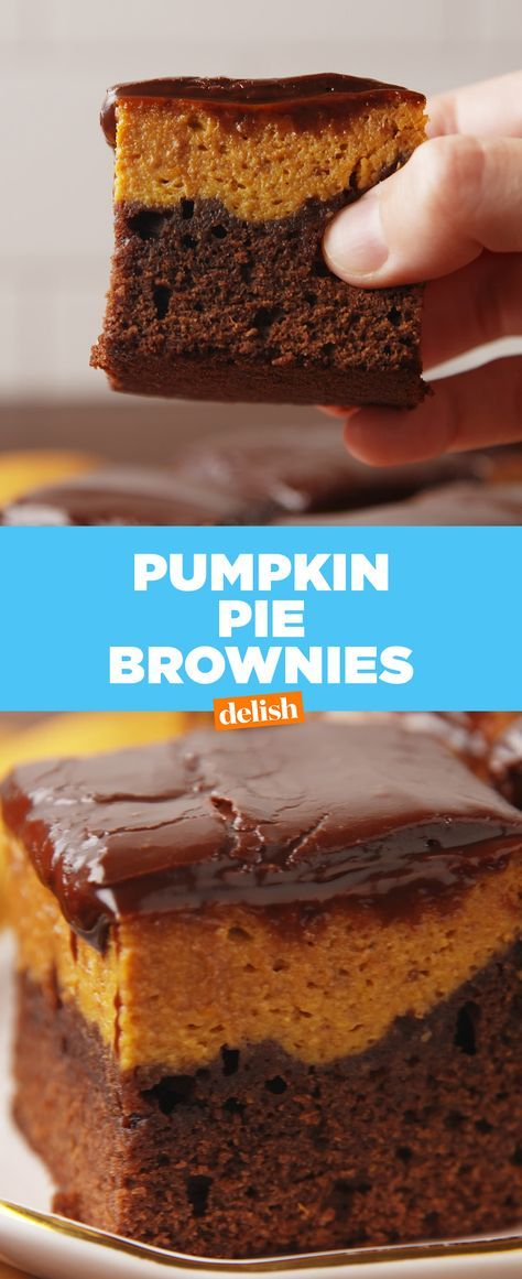 Pumpkin lovers: you need these brownies in your life STAT. Get the recipe at Delish.com.
