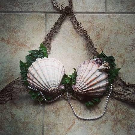 shell bra mermaid - Google Search