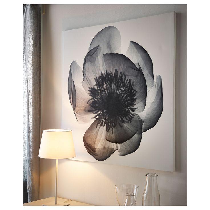 KLOXHULT πόστερ,ακτινογραφία πεόνιας  - IKEA. Τα λουλούδια μας φτιάχνουν τη διάθεση.