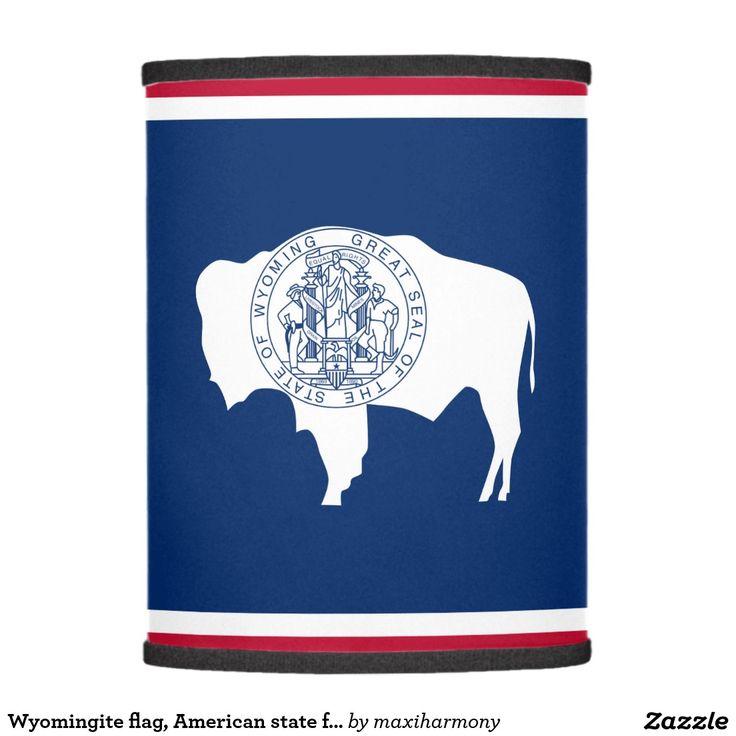 Wyomingite flag, American state flag Lamp Shade