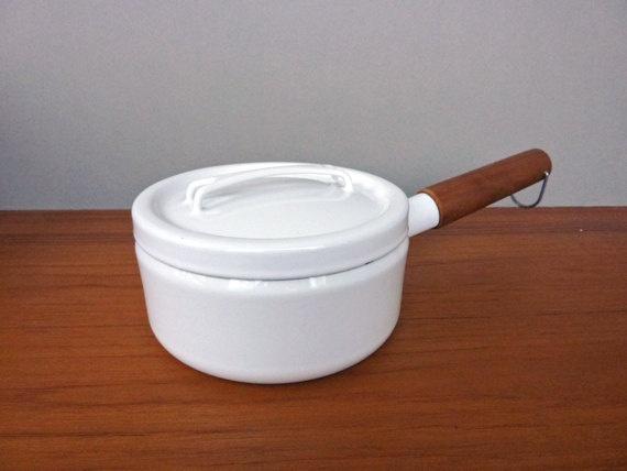 Seppo Mallat for Arabia Finel- White Saucepan. $55.00, via Etsy.
