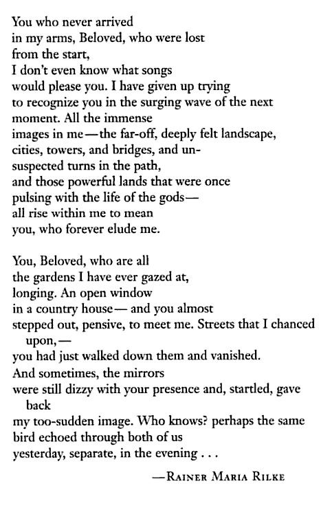 Love Letters To God Rilke