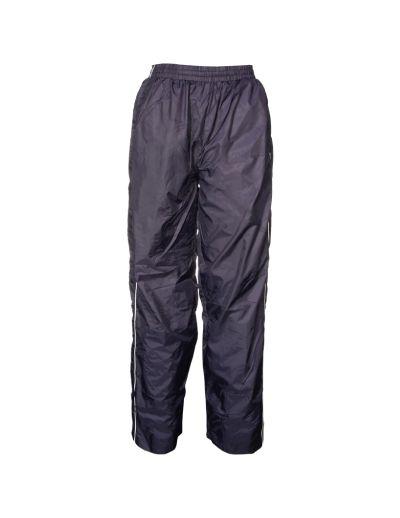 Showerproof trackpants ideal for training.  Showerproof nylon outer Fully lined - mesh upper 3/4 Side pockets Zippered back pocket Ankle zips Matches JPK Jacket