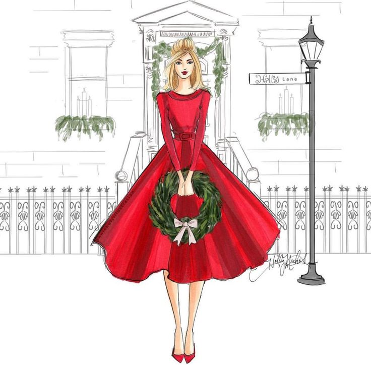 #holidaysH. Nichols Illustration- @hnicholsillustration/ hnillustration.etsy.com| Be Inspirational ❥|Mz. Manerz: Being well dressed is a beautiful form of confidence, happiness & politeness