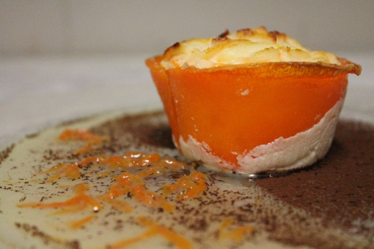 Mini-cheesecake with pumpkin and cacao