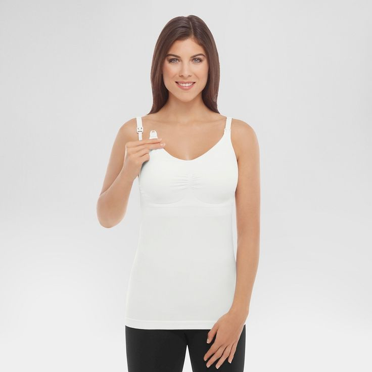 Medela Women's Slimming Nursing Cami with Removable Pads - White XL