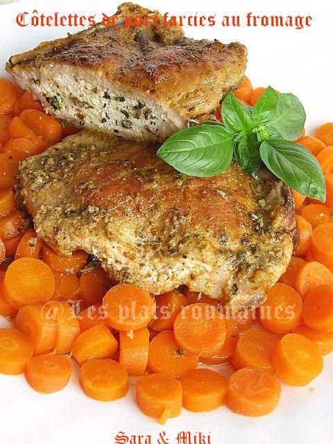 Les plats roumaines: Côtelettes de porc farcies au fromage