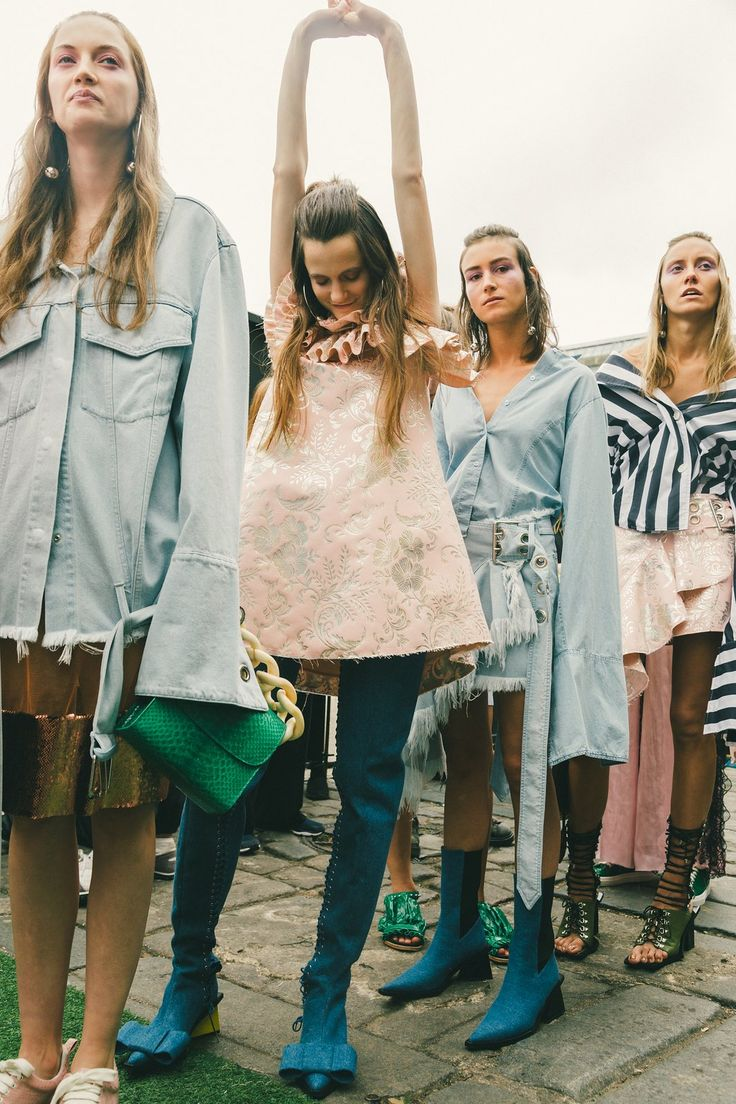 Behind-the-scenes at Marques ' Almeida during London Fashion Week. Photographed by Driely S.