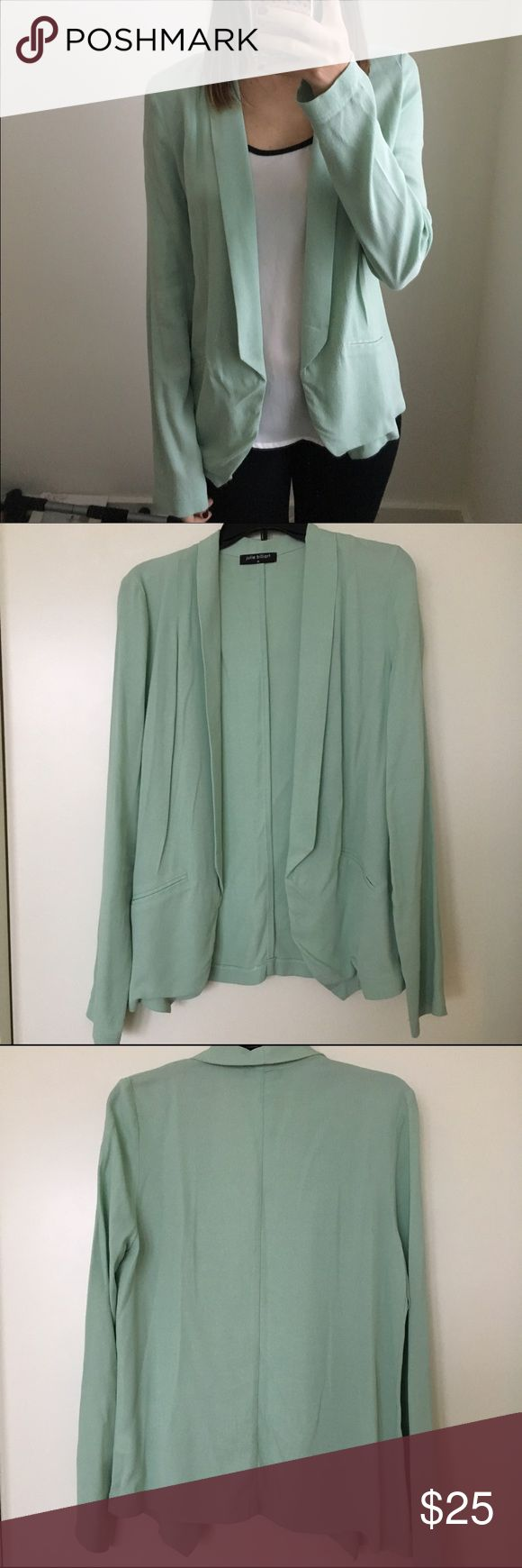 Mint Blazer Loose fitting blazer. 60% rayon, 40% viscose. Bought from Bevello boutique. Jackets & Coats Blazers