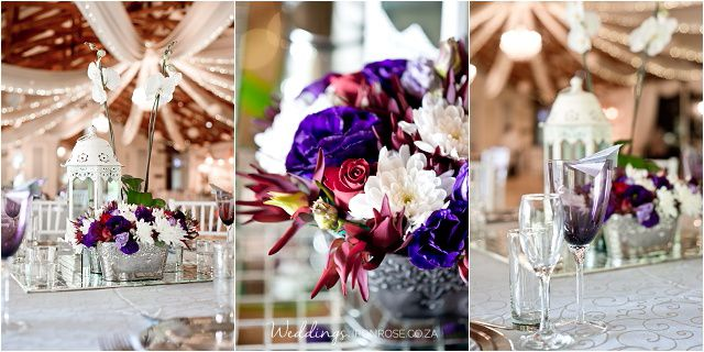 Vibrant colourful flowers for summer weddings. We love purple and red weddings at Casa-lee Country Lodge in Pretoria East