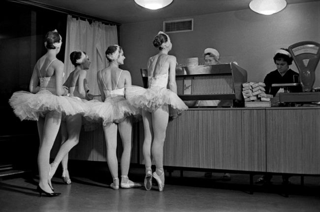 swans artist of the bolshoi theatre of the ussr in the cafeteria of the kremlin palace of congresses 1963