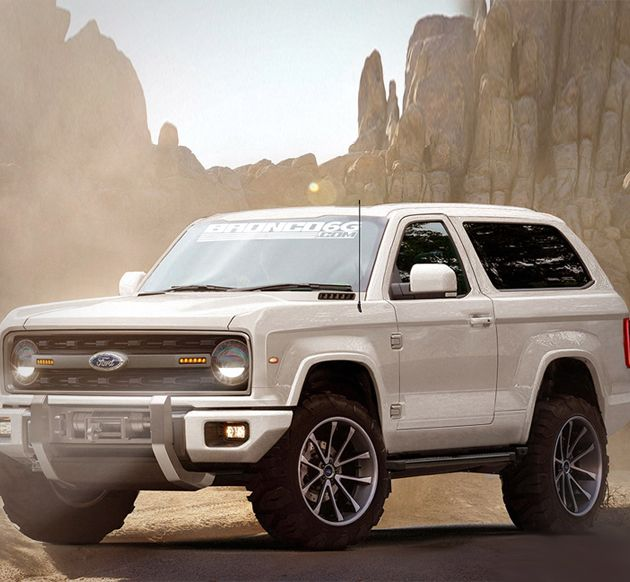 2020 Ford Bronco fan mock-up. If it looks like this and is available with the Coyote, I'm buying it...