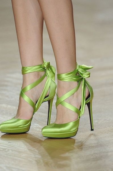 Christian Louboutin. Love the color, love the form, love everything about this shoes.