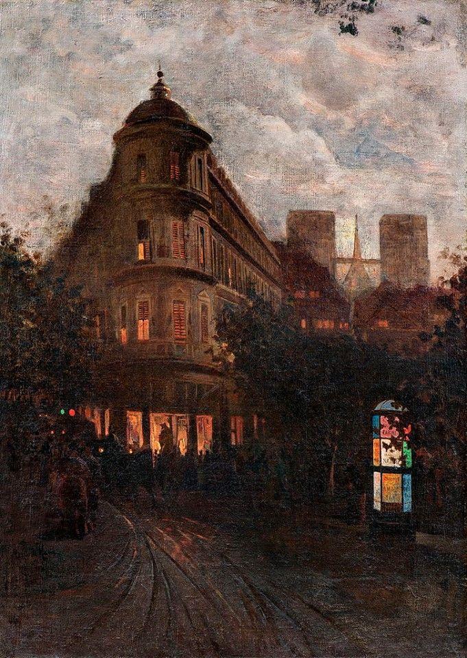 Mario de Maria, Una sera d'estate a Parigi (Luna velata); 1880-90
