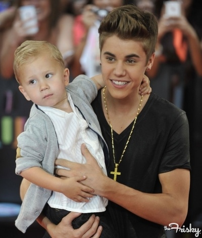 Justin Bieber and baby brother Jaxon