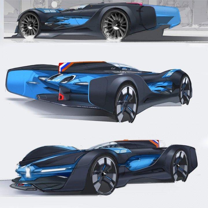 Alpine Vision Gran Turismo Concept Design Sketches by Laurent Negroni - Car Body Design
