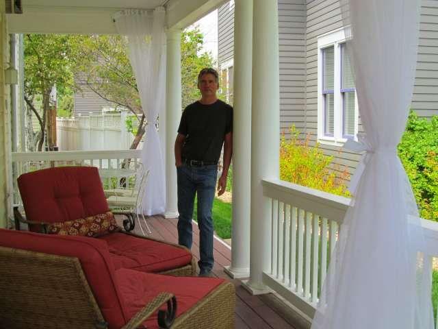 Mosquito Curtains Create An Affordable Outdoor Screen Room Enclosure.  Custom Made Marine Grade Alternative To Patio Screens.