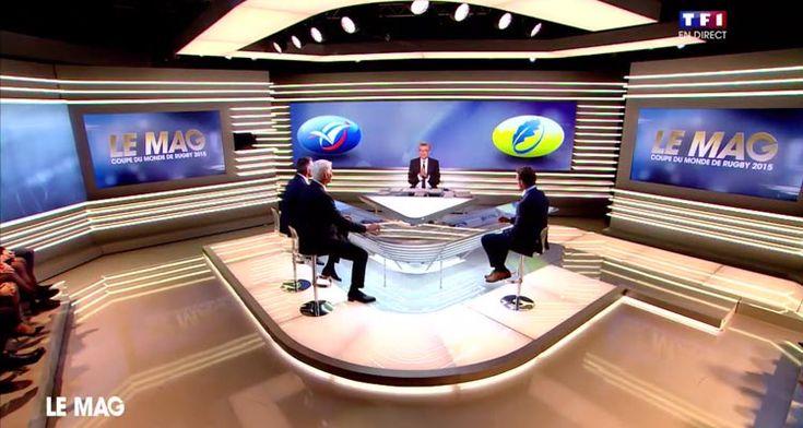 Le Mag de la Coupe du monde de rugby: Denis Brogniart en tête des audiences sur TF1 après France - Roumanie
