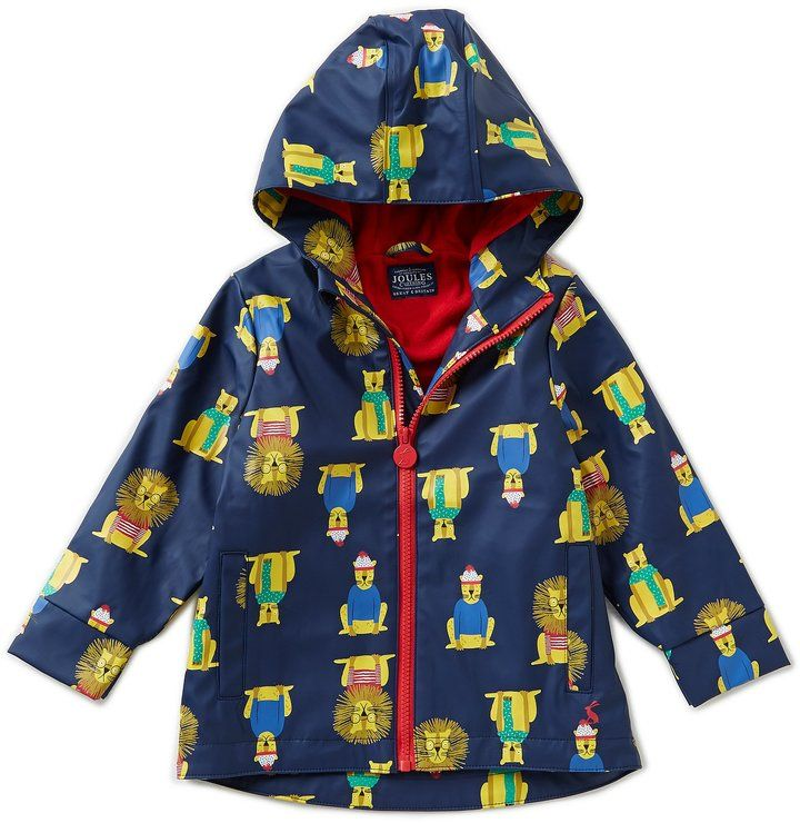 Joules Little Boys 1-3 Lion-Print Rain Coat