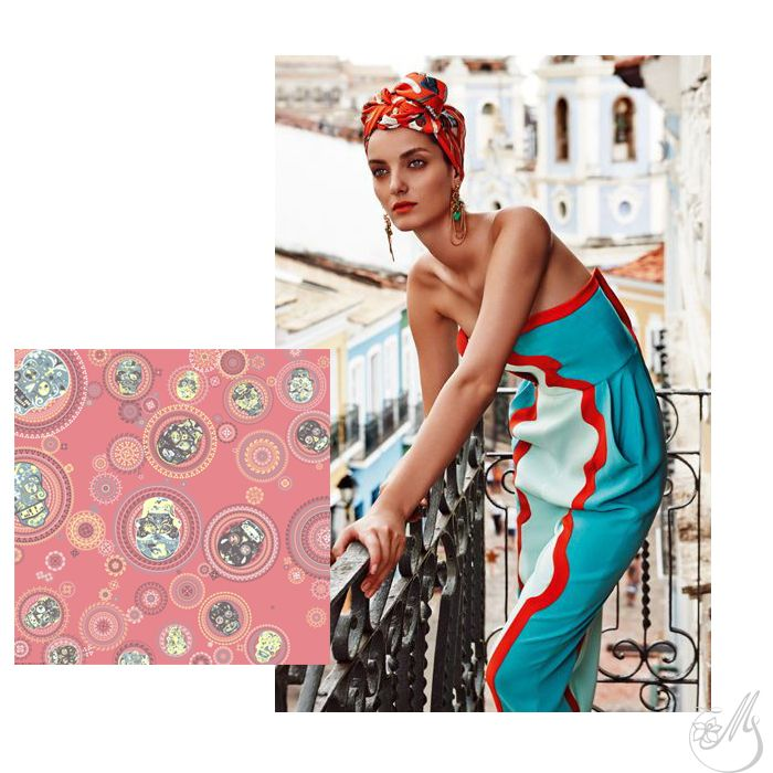 Dreaming of far away places and the sweetest escape! A versatile, summer #accessory like a #silk #scarf will enhance your mood, for sure, and will prepare you to meet summer in style! #mscarves #magnoliascarves #digitalprint #silk #loveitbeforeyouseeit #loveitbeforeyouwearit