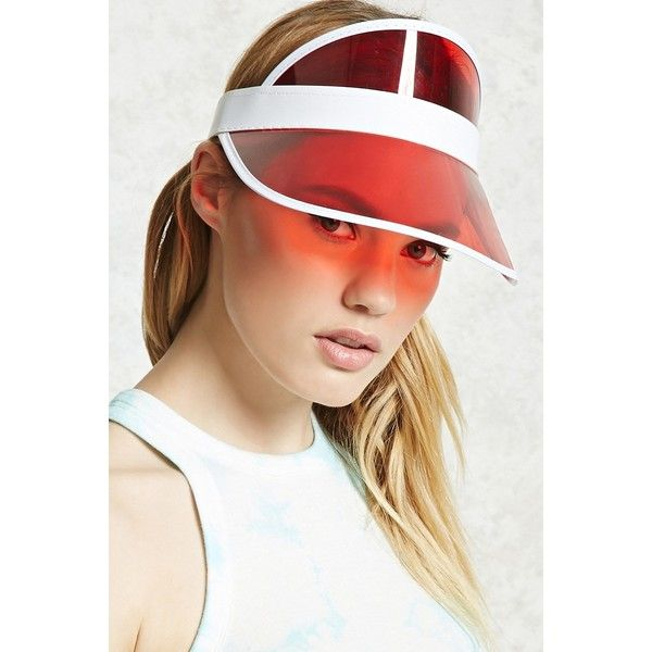 Forever21 Translucent Visor (555 RUB) ❤ liked on Polyvore featuring accessories, sun visor and forever 21
