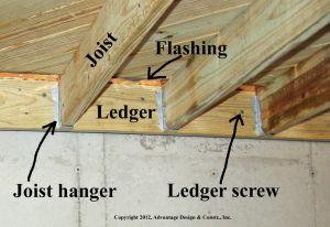 Deck ledger & joists, Westford, MA