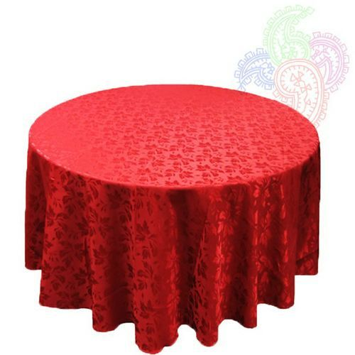 Marvelous Red Round Dinning Table Cloths