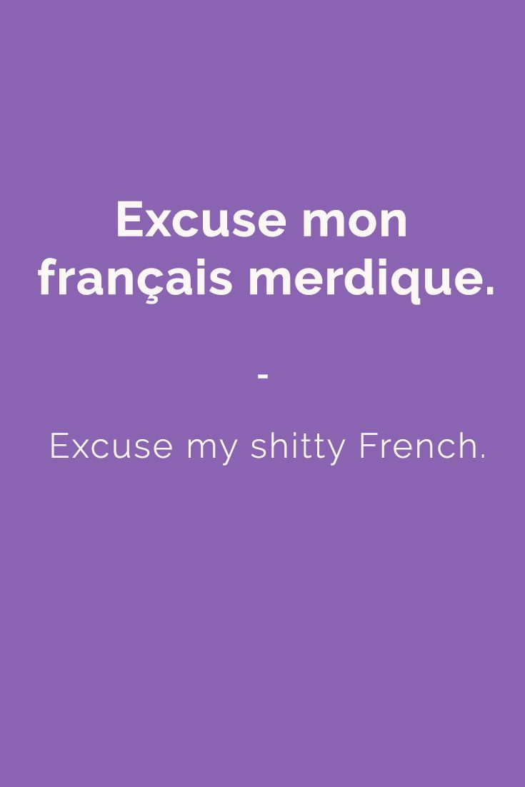best ideas about french words in english common excuse my shitty french more slang