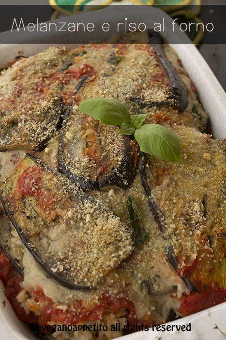 Vegan risotto al forno con melanzane