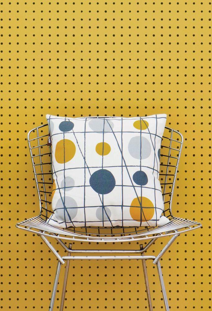Mustard Design Wallpaper : Mini moderns peggy wallpaper mustard furniture mid