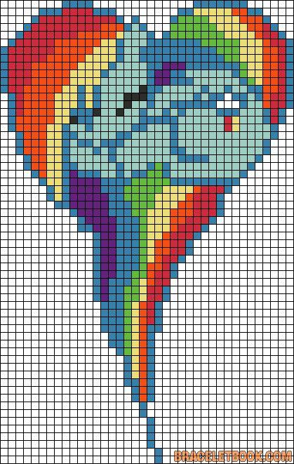 Картинки по клеточкам сердечки пони