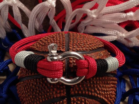 Toronto Raptors Nautical Bracelet with Whipped Ends