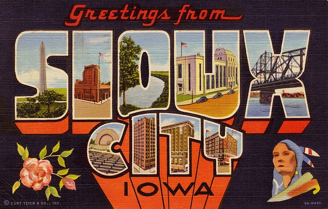 Greetings from Sioux City, Iowa - Large Letter Postcard