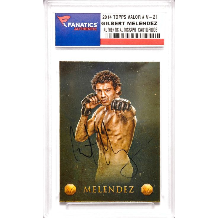 Gilbert Melendez UFC Fanatics Authentic Autographed 2014 Topps Valor #V-21 Card - $23.99
