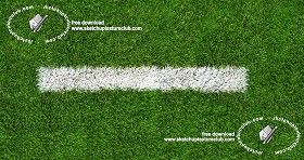 Textures Texture seamless | Green synthetic grass sports field with white line texture seamless 18712 | Textures - NATURE ELEMENTS - VEGETATION - Green grass | Sketchuptexture