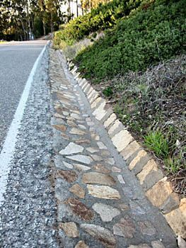 erosion control for driveway .... this is a really good idea, and is pretty to boot.....