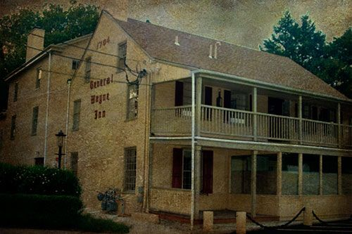 General Wayne Inn, PA. Reportedly haunted by hessian soldiers among others.