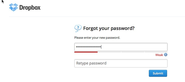 Dropbox - password strength meter