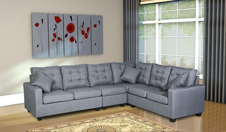 Sectional Sofa Couch Upholstered Living Room Furniture Loveseat Futon Adjustable   Home & Garden, Furniture, Sofas, Loveseats & Chaises   eBay!