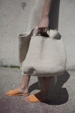 Lauren Manoogian Crochet Bowl Bag in Crudo | Oroboro Store | Brooklyn, New York