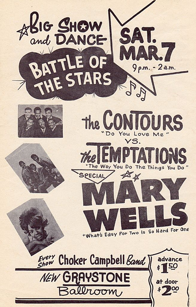 Classic 1960s Motown Concert Poster