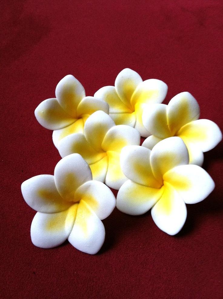 plumeria gum paste flowers - Google Search