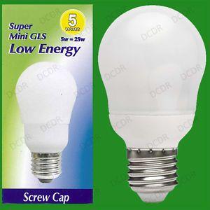 a 10x 5w bajo consumo de energia ahorro de energia cfl mini gls bombilla es e27 rosca edison lampara