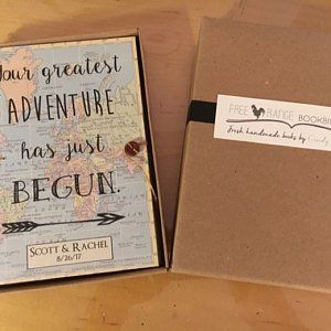 Personalized Travel Journal with Pockets and Envelopes, Choose your Map