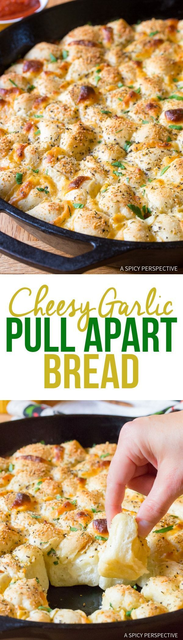 6-Ingredient Cheesy Garlic Pull Apart Bread Recipe | A Spicy Perspective @landolakesktchn #addalittlegood #ad